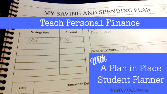 Saving and Spending Planning Pages