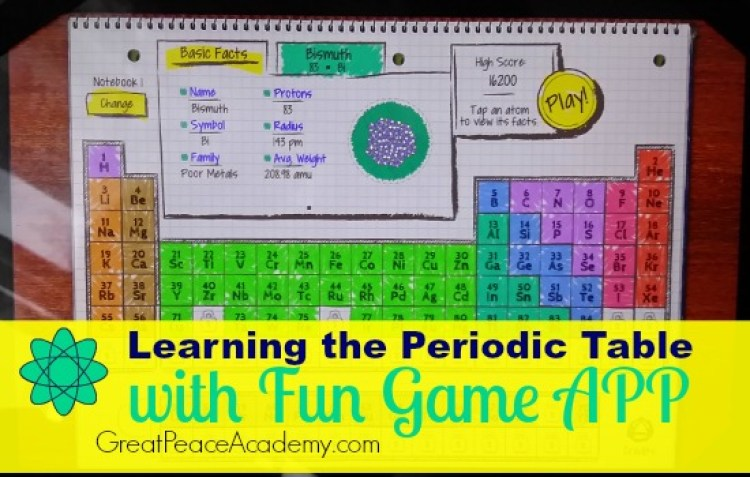atomidoodle a fun periodic table game app great peace academy - Periodic Table Learning App