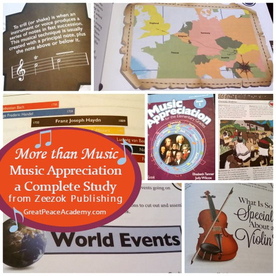 More than Music Music Appreciation, a Complete Study from Zeezok Publishing.   Great Peace Academy