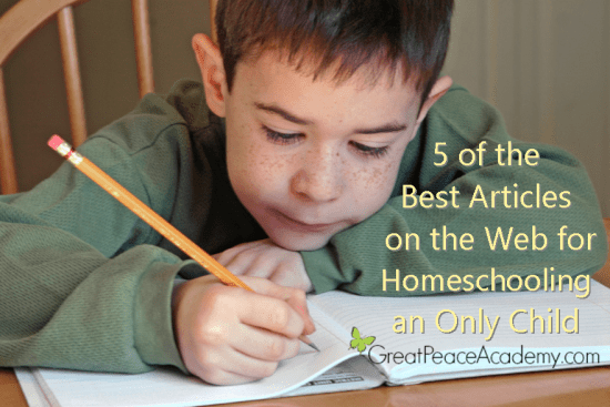 Articles for Homeschooling an Only Child