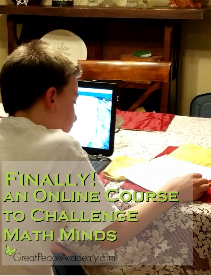 Finally! an Online Course for Math Minded Students.   Great Peace Academy #ihsnet