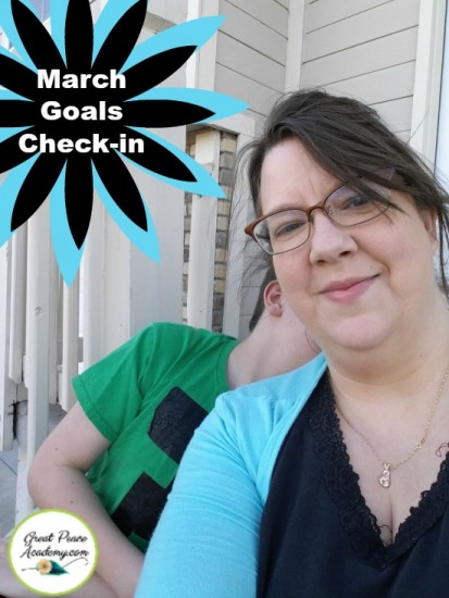 Annual Goals Check-in for March at Great Peace Academy