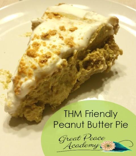 THM Friendly Peanut Butter Pie