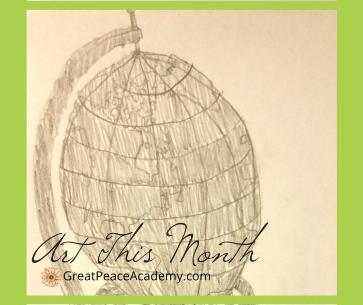 Art This Month at GreatPeaceAcademy.com #ihsnet #homeschool