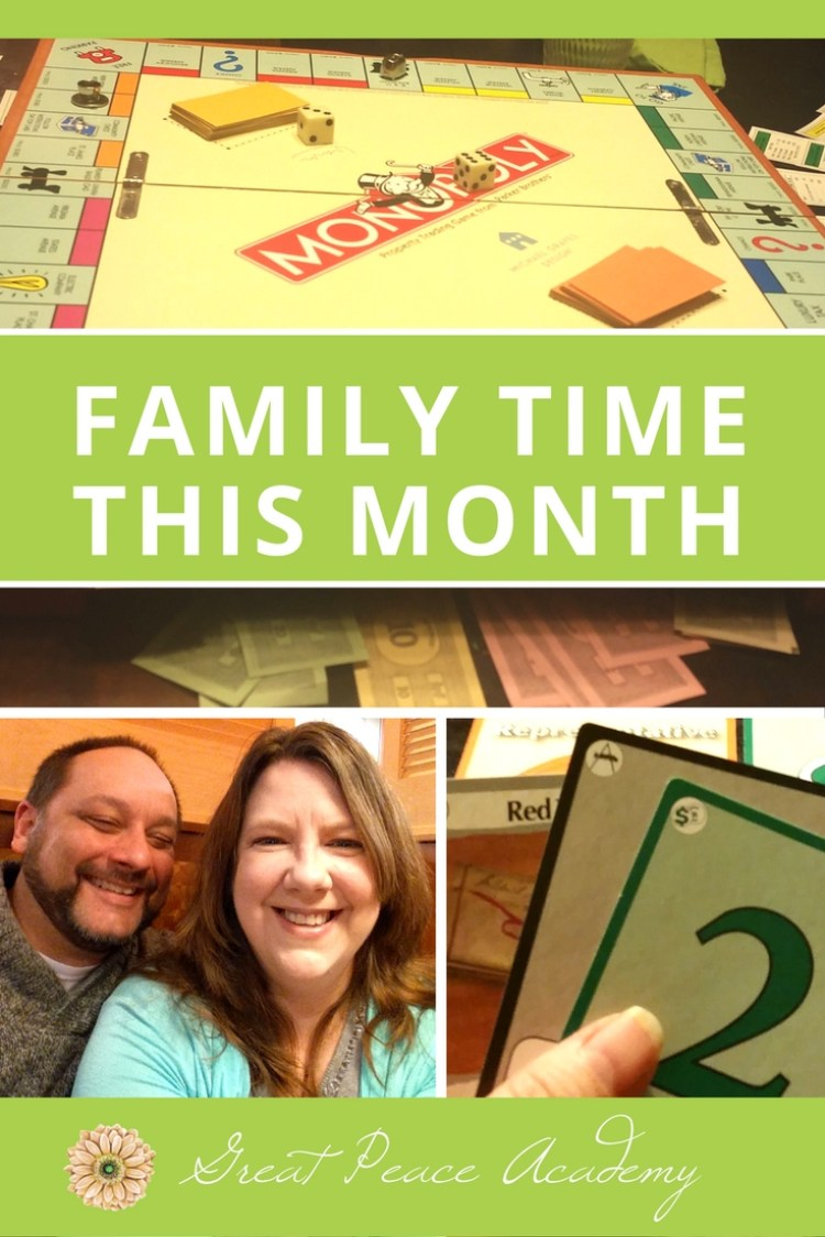 Family Time this Month at GreatPeaceAcademy.com #ihsnet #homeschool