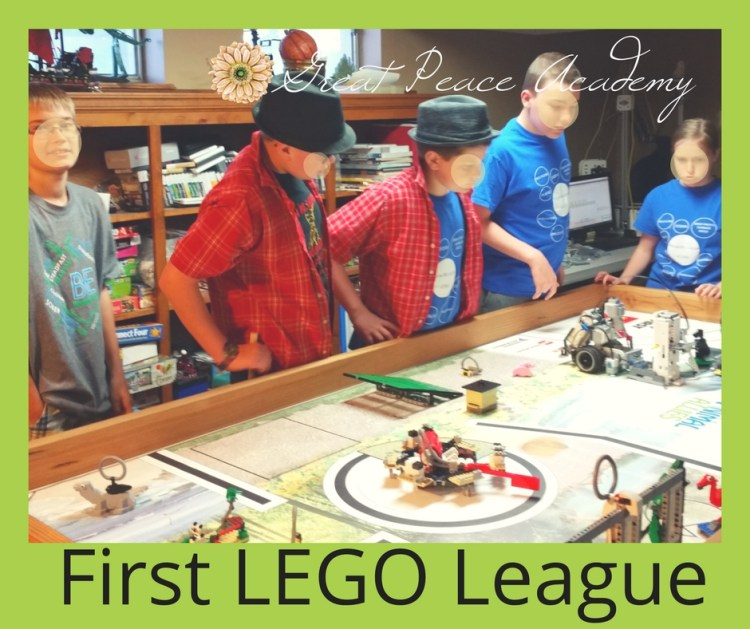 This Month First LEGO League | GreatPeaceAcademy.com #ihsnet #homeschool