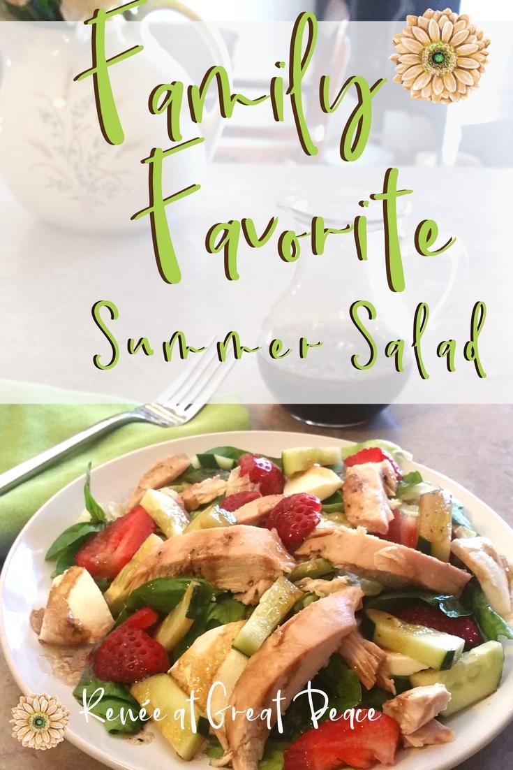 Family Favorite Summer Salad | Renée at Great Peace
