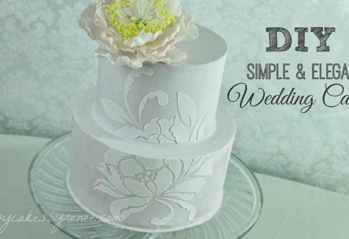 Diy Simple Elegant Wedding Cake Renee Conner Cake Design