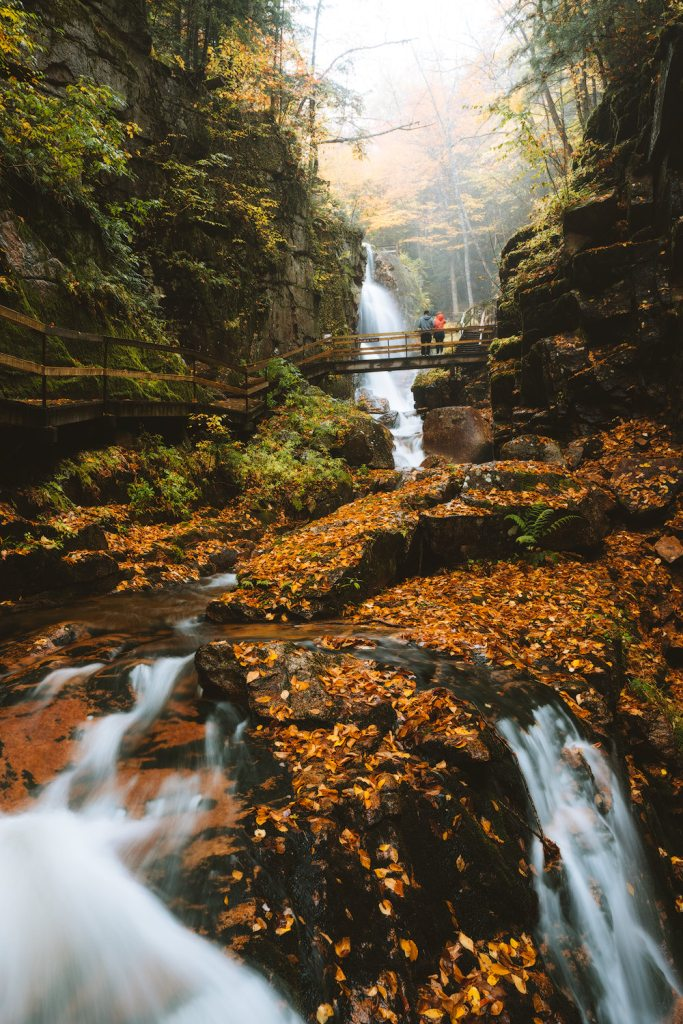 New England Fall Road Trip Ultimate Itinerary Renee Roaming Flume Gorge White Mountains New Hampshire