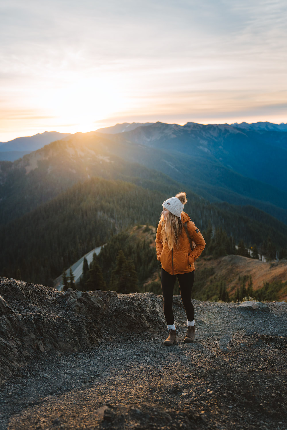 Olympic National Park Adventure Getaway 24 Hour Itinerary from Seattle Renee Roaming Hurricane Ridge Sunrise 3