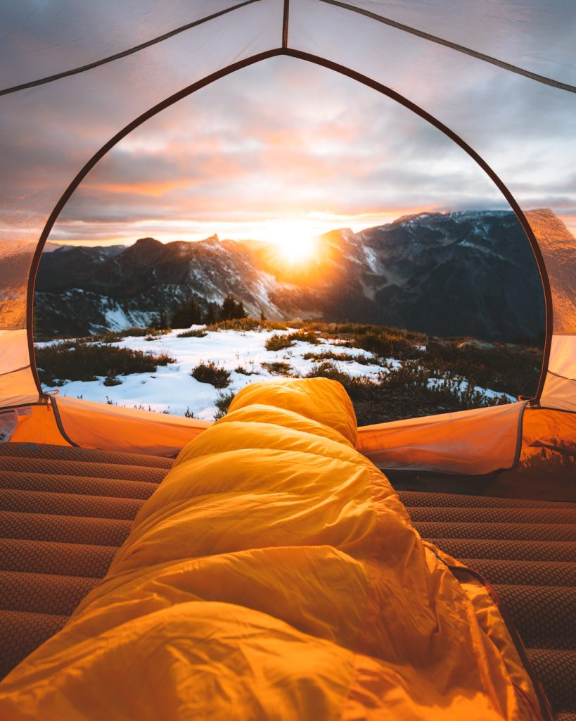 Ultimate Guide to Winter Hiking and Camping - winter sleeping bag
