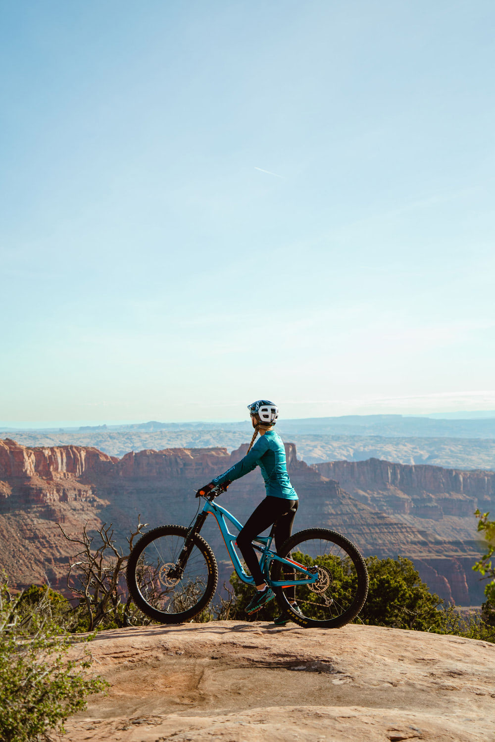 Experiencing Desert Climbing and Biking for the First Time Moab Rock Climbing with Backcountry Dead Horse Point Biking 2