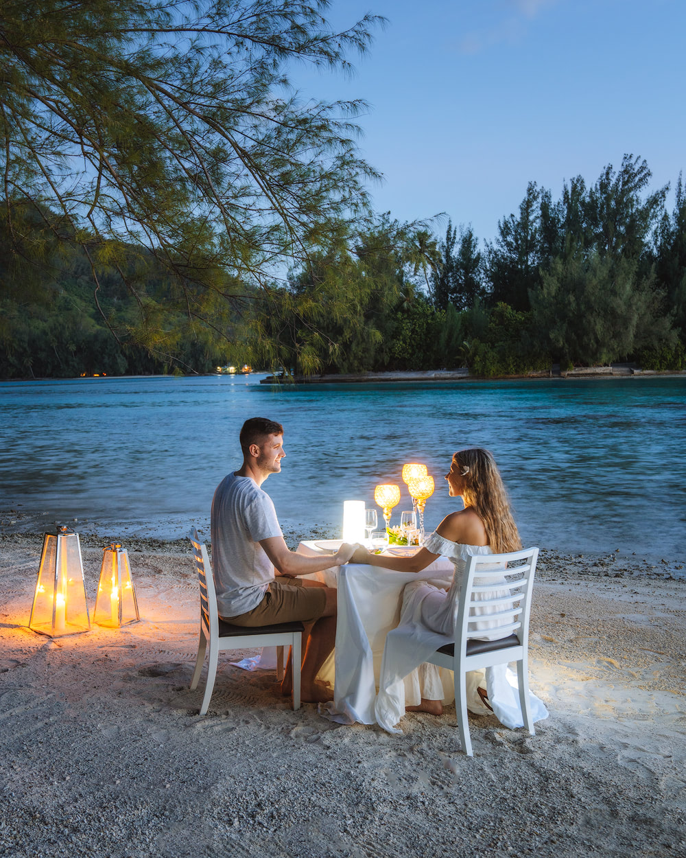 The Islands of Tahiti Moorea Romantic Motu Island Dinner