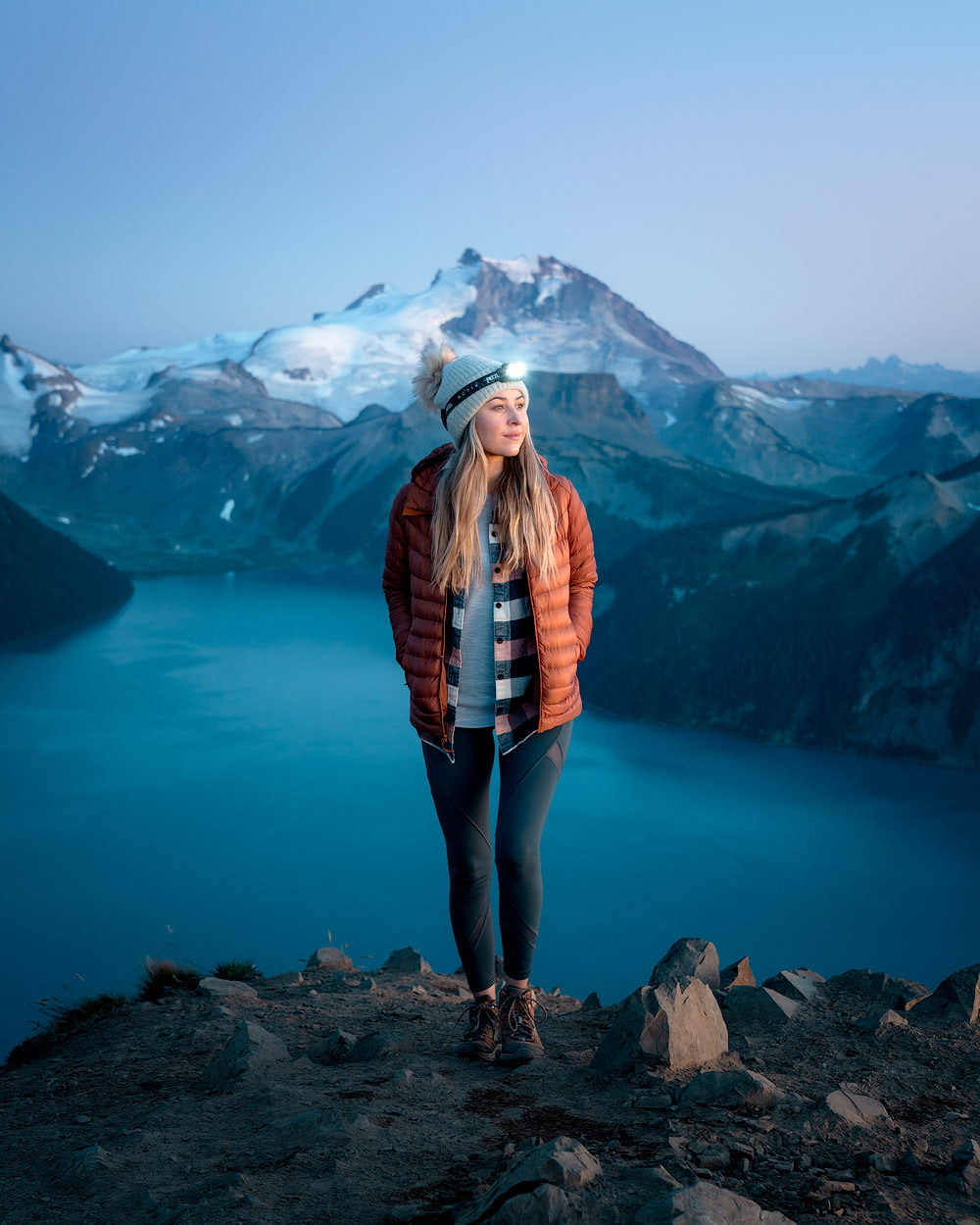 Garibaldi Provincial Park Panorama Ridge Overnight Backpacking Trip Blue Hour
