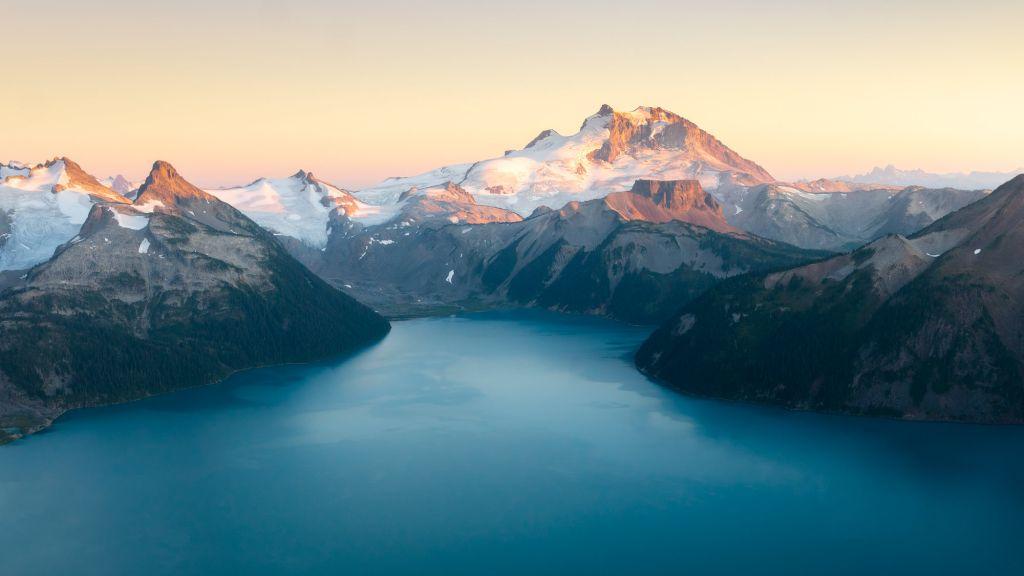 Garibaldi Provincial Park Panorama Ridge Overnight Backpacking Trip Sunset BANNER