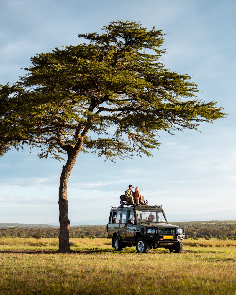 Experiencing an Incredible Luxury Safari at Solio Lodge Kenya Sunset Safari Vehicle
