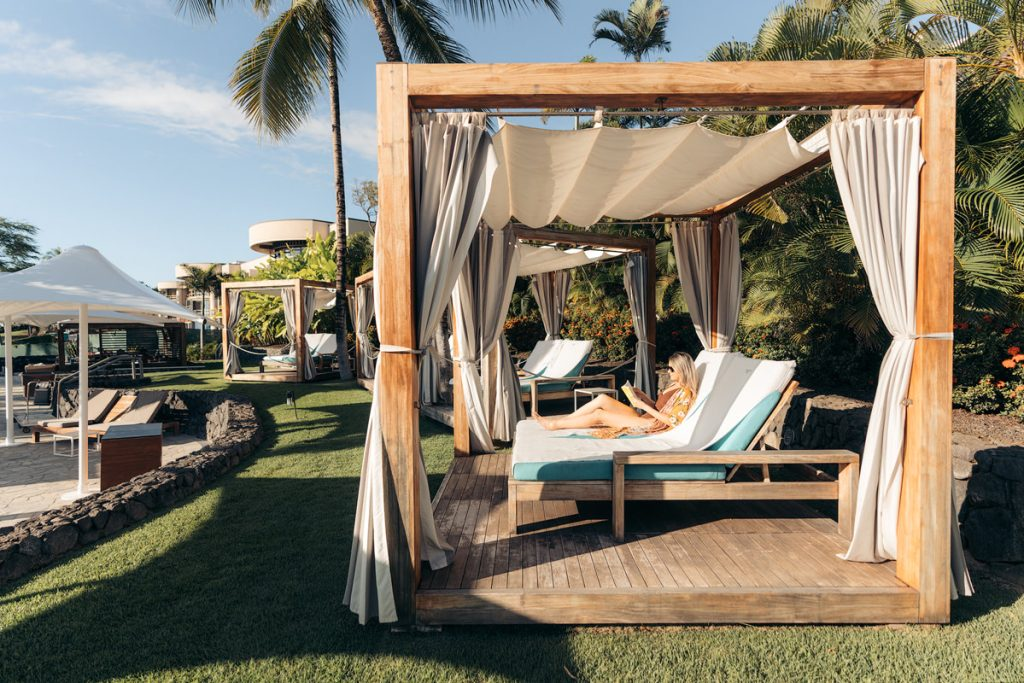 Plan an Incredible Trip to the Big Island of Hawaii - Poolside Cabana