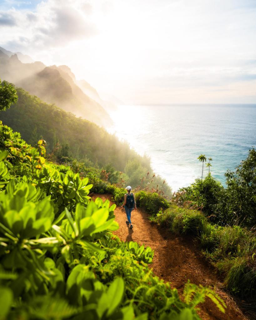 9 Must-Do Kauai Outdoor Adventures - Kalalau Trail Sunset - Renee Roaming