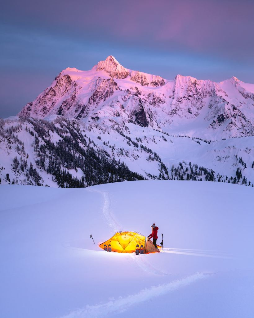 Snowshoe to Artist Point - Overnight Camp Shuksan
