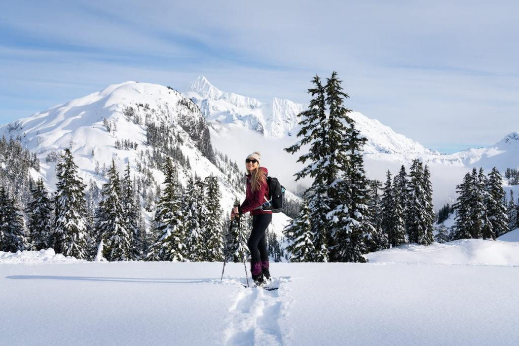 Snowshoe to Artist Point - View of Mount Shuksan
