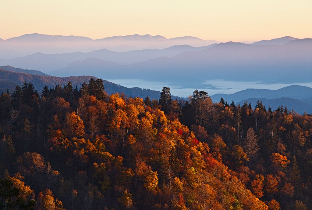 12 Best National Parks To Visit In The Fall - Great Smoky Mountains National Park Blue Ridge Parkway