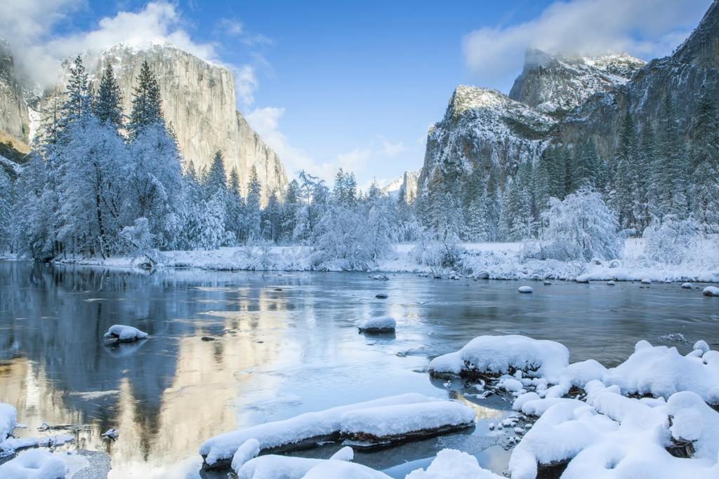 12 Best National Parks to Visit in Winter - Yosemite National Park Valley View
