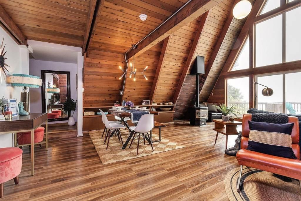 Cabin To Rent On Oregon Coast - Salacia Chalet A-Frame Cabin Lincoln Beach