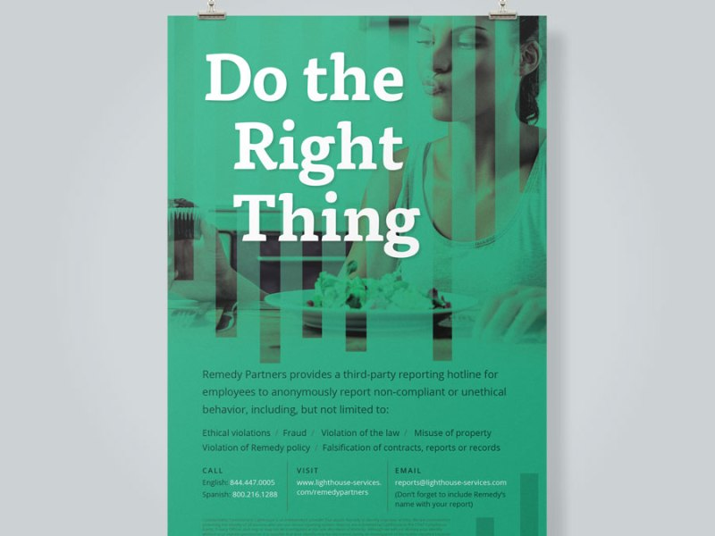Compliance Posters: Do the Right Thing