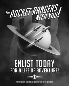 Faux Rocket Rangers recruitment poster