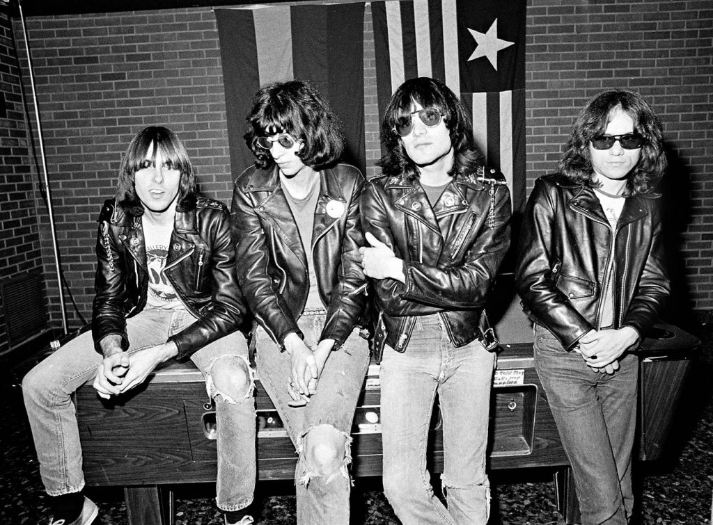 The Ramones, 50% Kosher: Joey Ramone (Jeffrey Ross Hyman) second left and Tommy Ramone (Tamás Erdélyi) first on the right. It is said that Joey Ramone (who suffered of Marfan's syndrome) was a 'self-hating Jew'. I have my doubts. I think he probably downplayed it. Certainly he didn't look like a vicious Talmudic Jew necessarily, although one is left to wonder if one of the reasons why he used that false name was to hide his Jewish origins (but that is debatable since all members of the band, Jewish or not, did the same thing anyway). An off-topic tidbit; the four members in the photograph are dead. It's the Punk life.