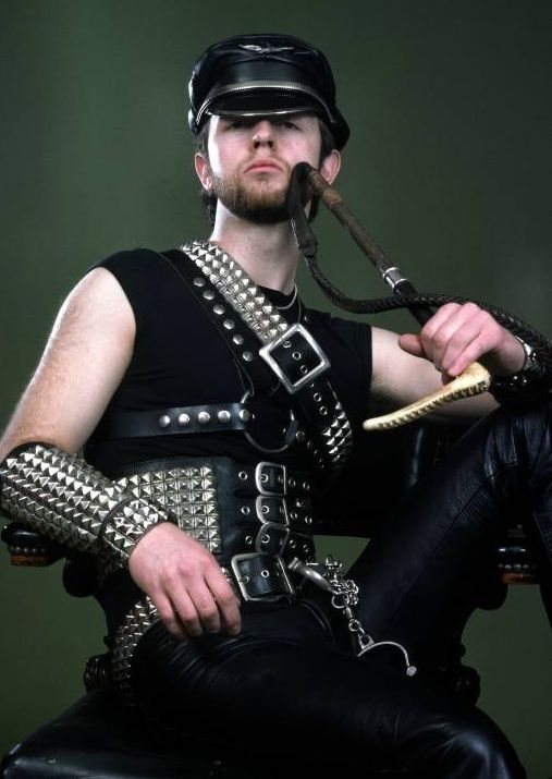 Rob Halford circa 1979. The 'leather and studs' image of Heavy Metal was brought by Metal God Rob inspired by the seedy underworld of gay BDSM which he himself frequented. I think many unsuspecting fans were still unaware of this factoid until very recently.
