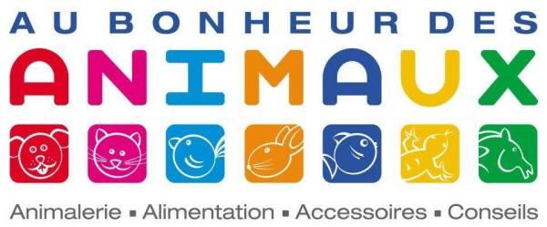 Logo Au bonheur des animaux. Un grand merci pour leur soutien.