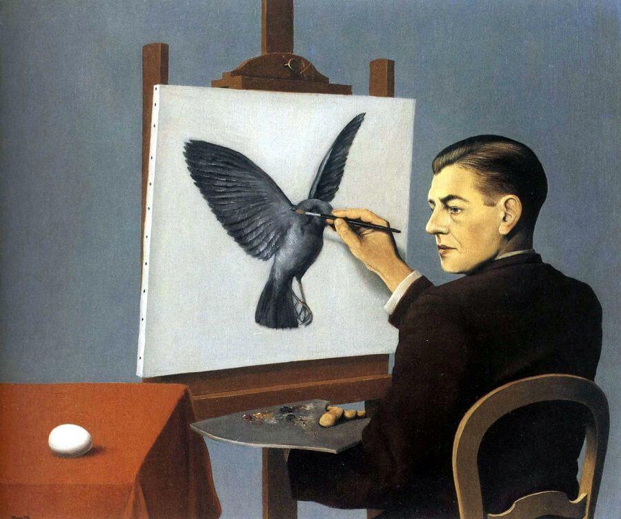 Magritte, La Clairvoyance