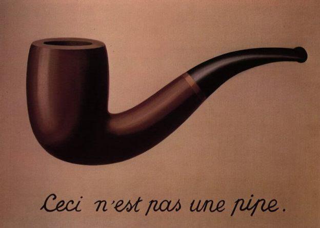 Una de las obras más famosas de Magritte (La Traición de las imágenes)