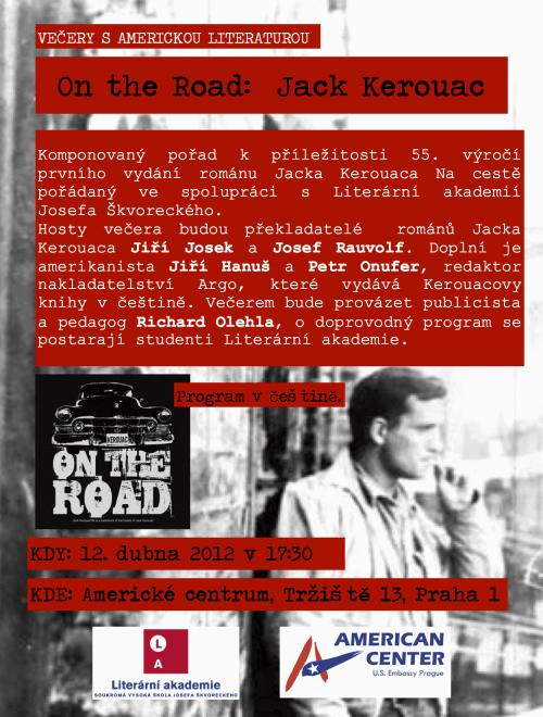 Večery s americkou literaturou: Jack Kerouac - pozvanka