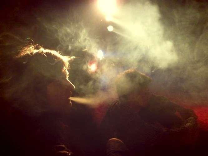 Kuřácký koutek.