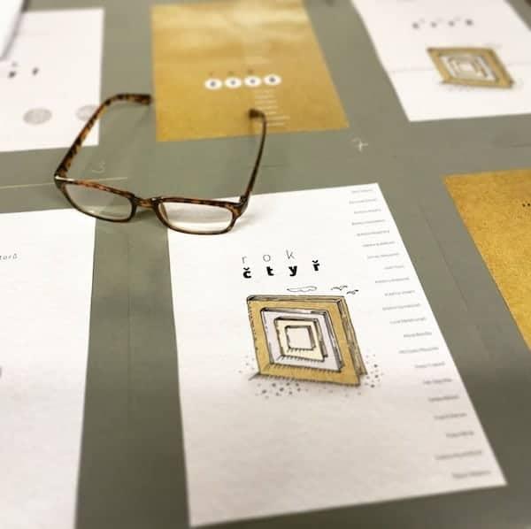 Kniha Rok čtyř – návrh obálky