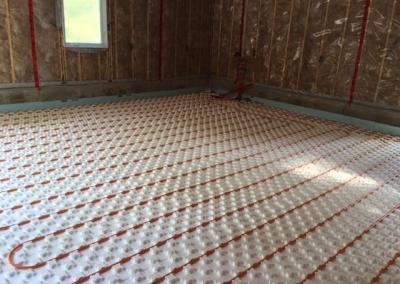 Job Photos: In-floor Radiant Heat