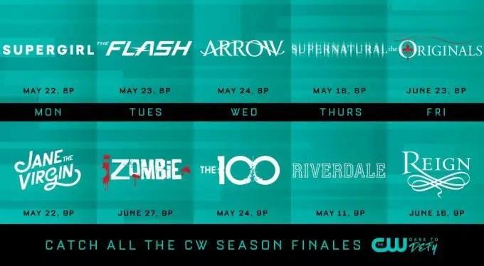 CW Finale Dates 2017