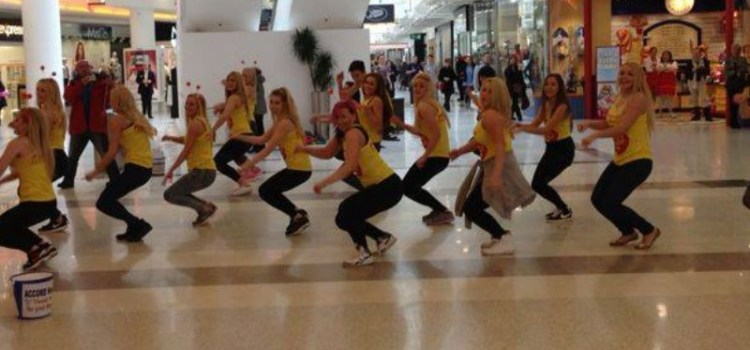 Flashmob dance held for charity
