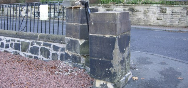 Bridge of Weir war memorial damaged