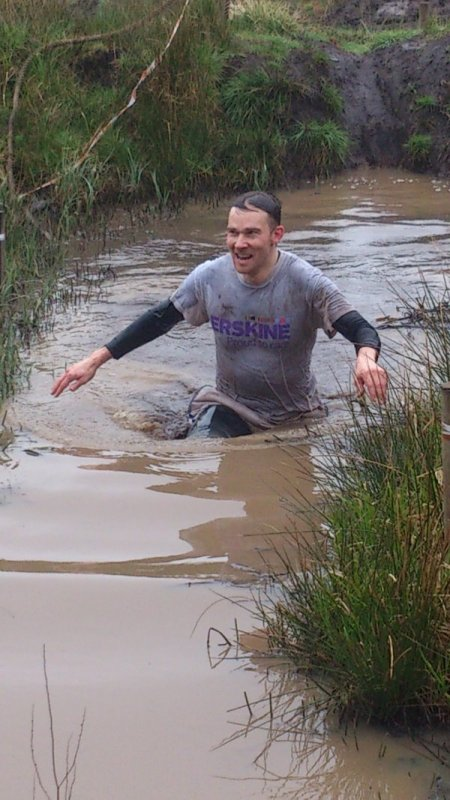 River City Actor Gets Muddy for Erskine Charity