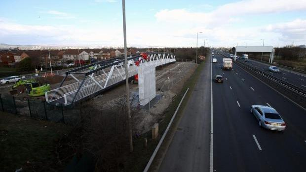 Third delay to motorway footbridge after sub-standard concrete discovered
