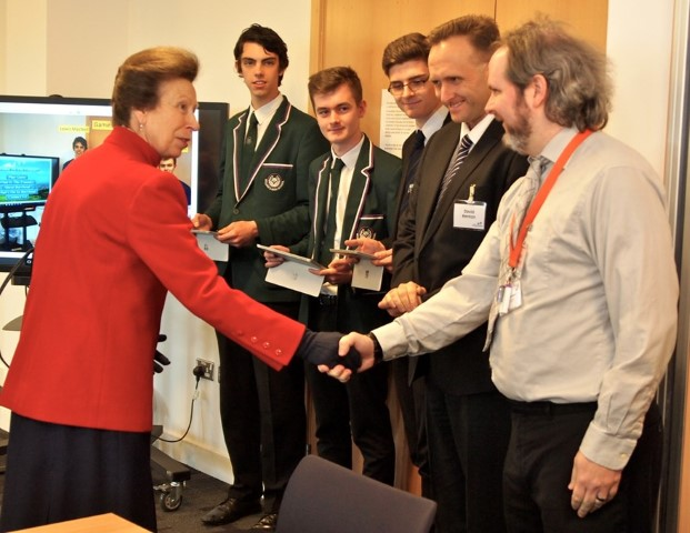 HRH The Princess Royal at her visit to Barrhead Foundry