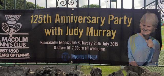 Judy Murray be the guest of honour at Kilmacolm Tennis Club this Saturday