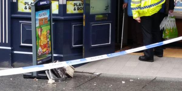 Two people injured by falling masonry at Moss Street, Paisley