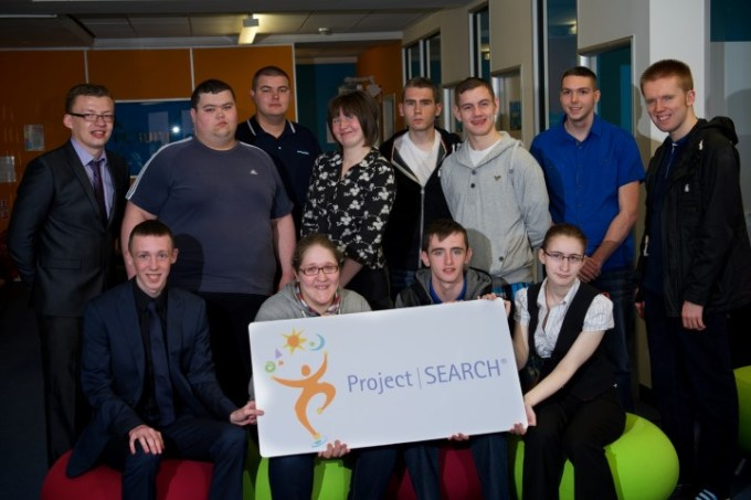 Renfrewshire's First Project SEARCH group on their first day of training