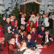 Pupils get mall excited about seeing Santa