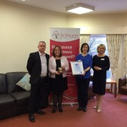 St Vincent's Hospice has been awarded the prestigious Volunteer Friendly Award.