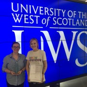 University of the West of Scotland win 'Best Partnership Award' for their work with Renfrewshire-Wide Credit Union